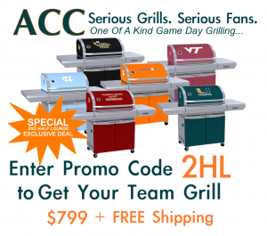 BUY NOW! College ACC Team Grills